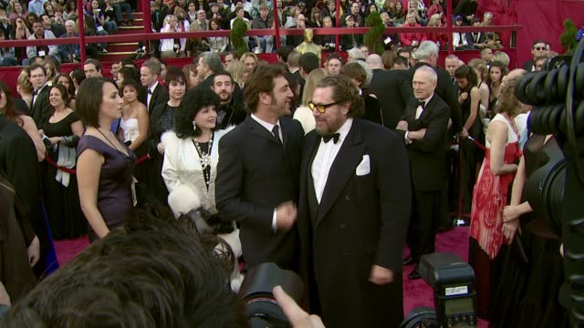Javier Bardem and Julian Schnabel at the 2008 Academy Awards at the Kodak Theatre in Hollywood California on February 24 2008