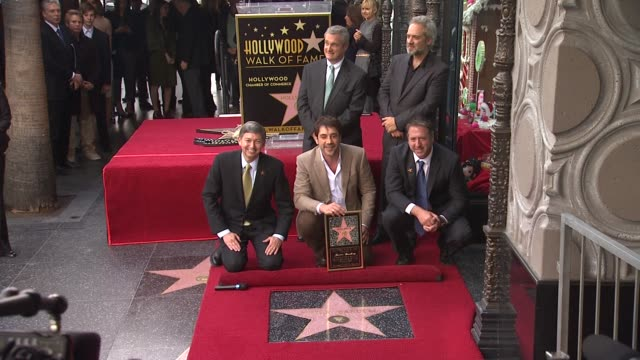 javier bardem and sam mendes at javier bardem honored with star on the hollywood walk of fame in hollywood ca on 11/8/12 - javier bardem stock videos and b-roll footage