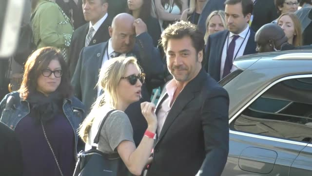 javier bardem arriving to the pirates of the caribbean dead men tell no tales premiere at dolby theatre in hollywood in celebrity sightings in los... - javier bardem stock videos and b-roll footage
