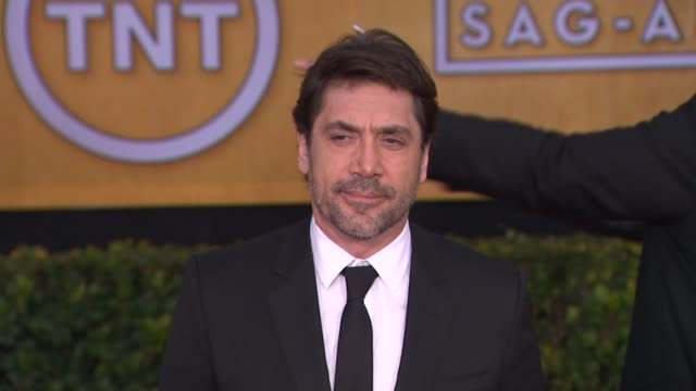 javier bardem at 19th annual screen actors guild awards arrivals 1/27/2013 in los angeles ca javier bardem at 19th annual screen actors guild a at... - javier bardem stock videos and b-roll footage