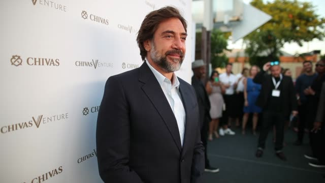 javier bardem at halle berry josh gad announce winners of the chivas venture $1m global startup competition on july 13 2017 in los angeles california - javier bardem stock videos and b-roll footage