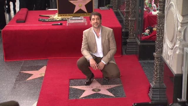 Javier Bardem at Javier Bardem Honored with Star on the Hollywood Walk of Fame in Hollywood CA on 11/8/12