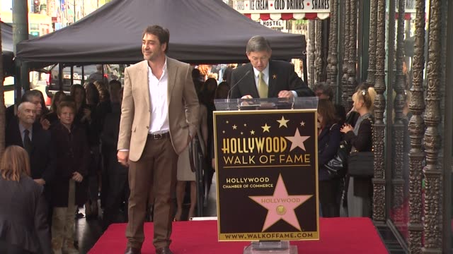 javier bardem at javier bardem honored with star on the hollywood walk of fame in hollywood ca on 11/8/12 - javier bardem stock videos and b-roll footage