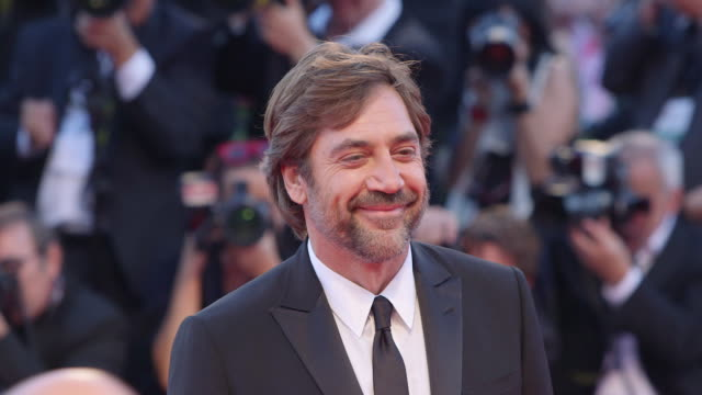 javier bardem at 'mother' red carpet 74th venice international film festival at palazzo del casino on september 05 2017 in venice italy - javier bardem stock videos and b-roll footage