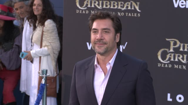 javier bardem at pirates of the caribbean dead men tell no tales premiere in los angeles ca - javier bardem stock videos and b-roll footage