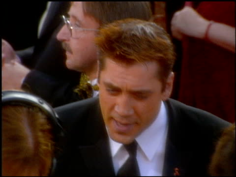 javier bardem at the 2001 academy awards at the shrine auditorium in los angeles california on march 25 2001 - javier bardem stock videos and b-roll footage