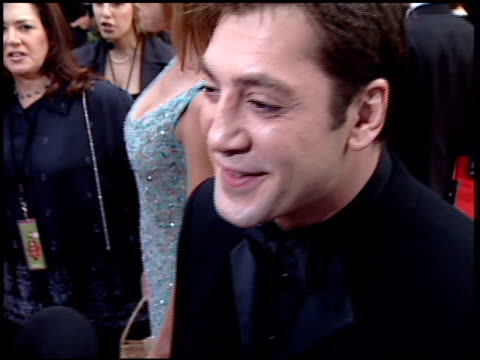 Javier Bardem at the 2001 Golden Globe Awards at the Beverly Hilton in Beverly Hills California on January 21 2001