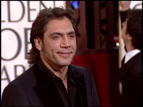 Javier Bardem at the 2005 Golden Globe Awards at the Beverly Hilton in Beverly Hills California on January 16 2005