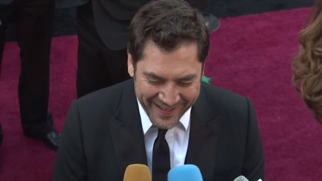 javier bardem at the 83rd annual academy awards arrivals part 3 at hollywood ca - javier bardem stock videos and b-roll footage