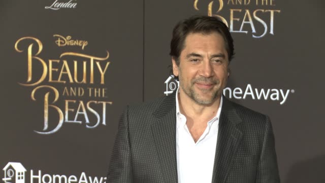 javier bardem at the premiere of disney's beauty and the beast at the el capitan theatre on march 02 2017 in hollywood california - javier bardem stock videos and b-roll footage