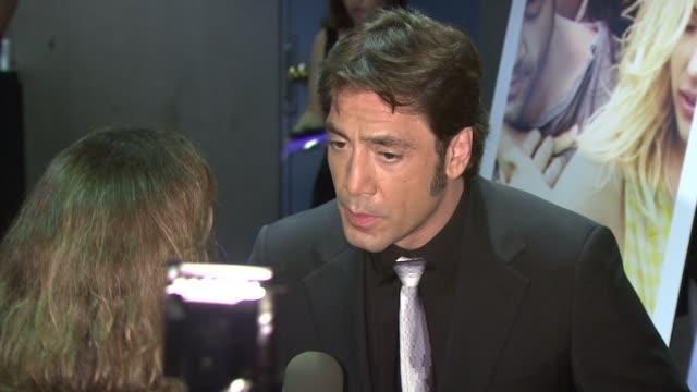 Javier Bardem at the 'Vicky Cristina Barcelona' Premiere at New York NY