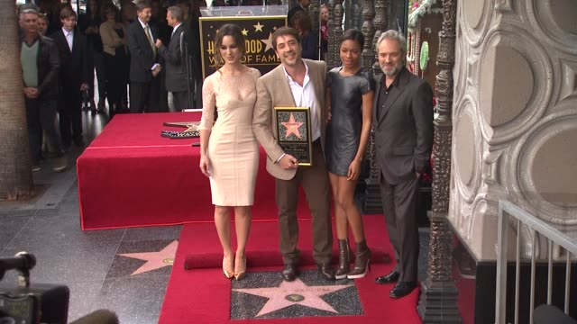 Javier Bardem Berenice Marlohe Naomie Harris and Sam Mendes at Javier Bardem Honored with Star on the Hollywood Walk of Fame in Hollywood CA on...