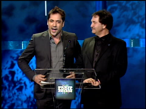 Javier Bardem Daniel Cahn at the 61st Annual ACE Eddie Awards at Beverly Hills CA