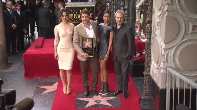 javier bardem honored with star on the hollywood walk of fame event capsule chyron javier bardem honored with s at hollywood walk of fame on november... - javier bardem stock videos and b-roll footage