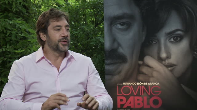 interview javier bardem on acting alongside his wife penelope cruz and distinguishing between real life and the characters they played at 'loving... - javier bardem stock videos and b-roll footage