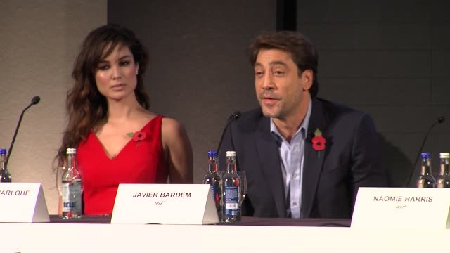 javier bardem on his character at the bond 23 launch press conference skyfall at london england - skyfall stock videos and b-roll footage