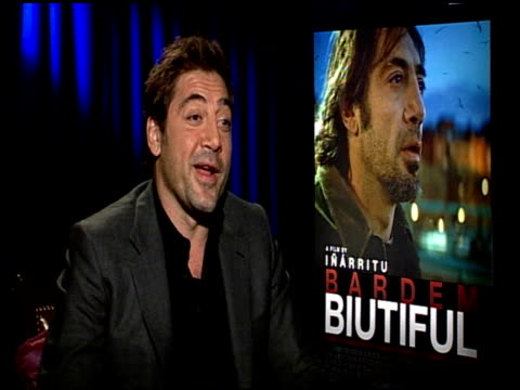 Javier Bardem on his initial reaction to the script at the 'Biutiful' Junket at Los Angeles CA