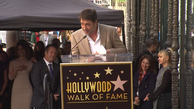 Javier Bardem on his journey up through Hollywood at Javier Bardem Honored with Star on the Hollywood Walk of Fame in Hollywood CA on 11/8/12