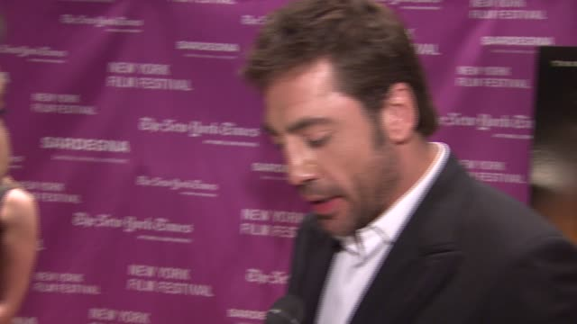 Javier Bardem on his role in the film at the 'No Country for Old Men' New York Premiere at Frederick P Rose Hall in New York New York on October 6...
