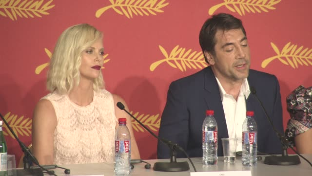 INTERVIEW Javier Bardem on humanitarian workers being heroes at 'The Last Face' Press Conference at Grand Theatre Lumiere on May 20 2016 in Cannes...