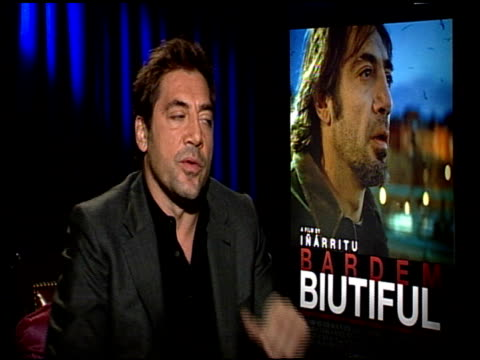 Javier Bardem on if he was worried about carrying the film at the 'Biutiful' Junket at Los Angeles CA