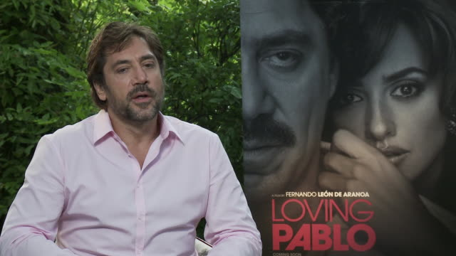 interview javier bardem on the current narcotics situation in mexico and why the film is called loving pablo at 'loving pablo' interviews 74th venice... - javier bardem stock videos and b-roll footage