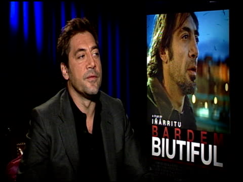 Javier Bardem on the journeys his character Uxbal goes through at the 'Biutiful' Junket at Los Angeles CA
