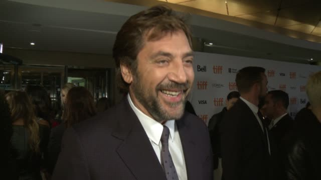 interview javier bardem on why he wanted to be a part of this project and why he thinks the audience won't be able to stop talking about this film at... - javier bardem stock videos and b-roll footage