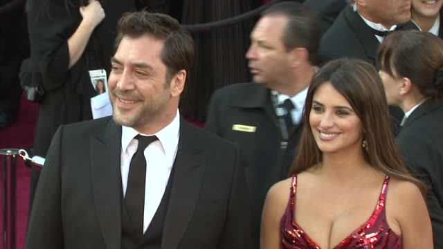 Javier Bardem Penelope Cruz at the 83rd Annual Academy Awards Arrivals Part 3 at Hollywood CA