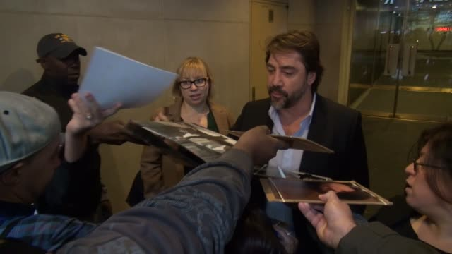 Javier Bardem with fans at the 'TODAY' show studio at Celebrity Sightings in New York in New York NY on