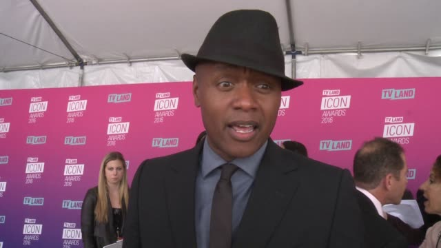 interview javier colon on why he wanted to help pay tribute to norman lear and what makes an icon at tv land icon awards arrivals in los angeles ca - tv land awards stock videos and b-roll footage