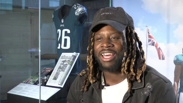 jay ajayi exhibition in museum of london; england: london: museum of london: int jay ajayi interview sot cutaways super bowl ring exhibited close... - philadelphia eagles stock videos & royalty-free footage