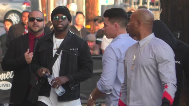 jay ajayi of the philadelphia eagles outside jimmy kimmel live in hollywood in celebrity sightings in los angeles, - philadelphia eagles stock videos & royalty-free footage