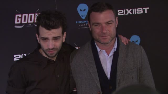 jay baruchel and liev schreiber at 'goon' new york premiere on in new york city ny - jay baruchel stock videos and b-roll footage