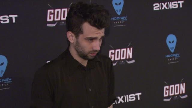 jay baruchel at 'goon' new york premiere on in new york city ny - jay baruchel stock videos and b-roll footage