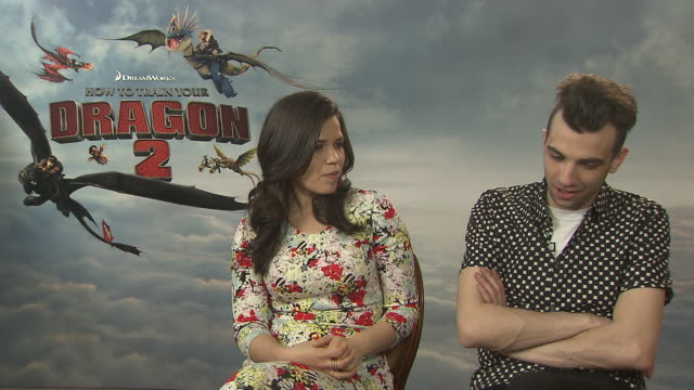 interview jay baruchel on being in cannes at 'how to train your dragon 2' interviews on may 15 2014 in cannes france - how to train your dragon stock videos & royalty-free footage