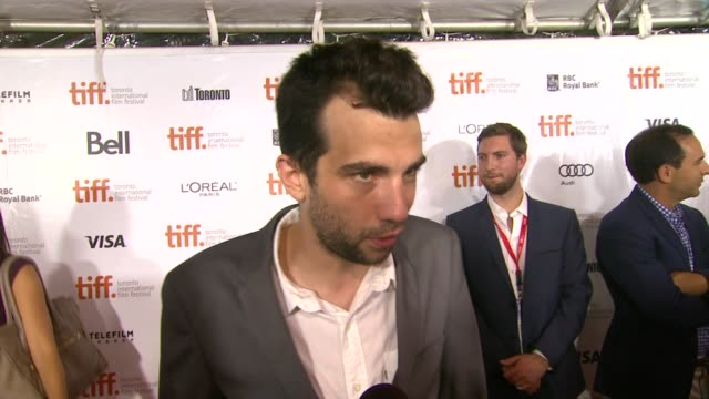 interview jay baruchel on his character at the art of the steal premiere 2013 toronto international film festival on 9/11/2013 in toronto canada - jay baruchel stock videos and b-roll footage