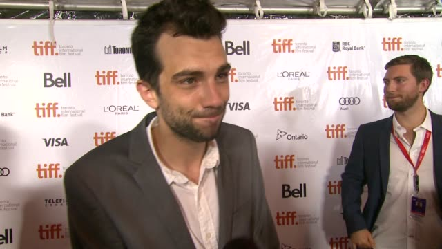 interview jay baruchel on how it feels to be at tiff at the art of the steal premiere 2013 toronto international film festival on 9/11/2013 in... - jay baruchel stock videos and b-roll footage