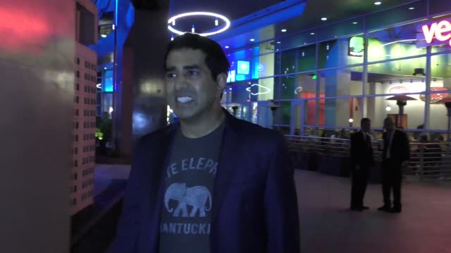 jay chandrasekhar leaves the super troopers 2 premiere at arclight cinemas in hollywood in celebrity sightings in los angeles - super troopers 2 stock videos & royalty-free footage