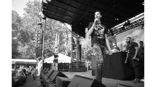 jay critch at the made in america festival at benjamin franklin parkway on august 31 2019 in philadelphia pennsylvania - benjamin franklin parkway stock-videos und b-roll-filmmaterial