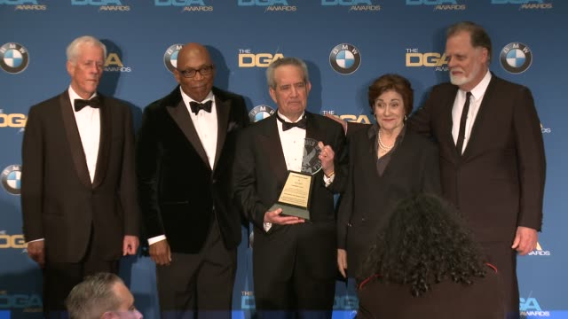 jay d roth michael apted paris barclay martha coolidge taylor hackford at 69th annual directors guild of america awards in los angeles ca - directors guild of america awards stock videos & royalty-free footage