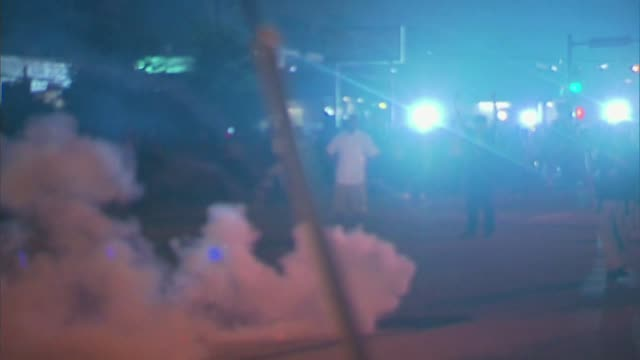 jay dow reports protests in ferguson missouri after mike brown shooting on august 18 2014 in ferguson missouri - police brutality stock videos and b-roll footage