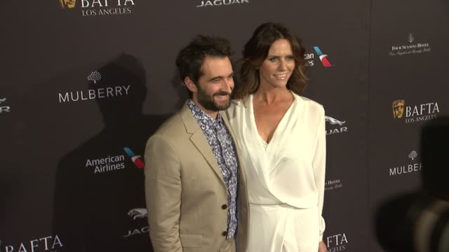 Jay Duplass and Amy Landecker at the 2015 BAFTA Los Angeles Tea Party at The Four Seasons Hotel on January 10 2015 in Beverly Hills California