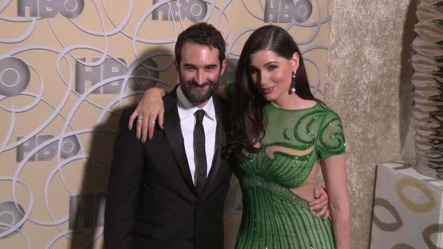 vídeos y material grabado en eventos de stock de jay duplass and trace lysette at hbo's official 2017 golden globe awards after party - arrival at the beverly hilton hotel on january 08, 2017 in... - the beverly hilton hotel