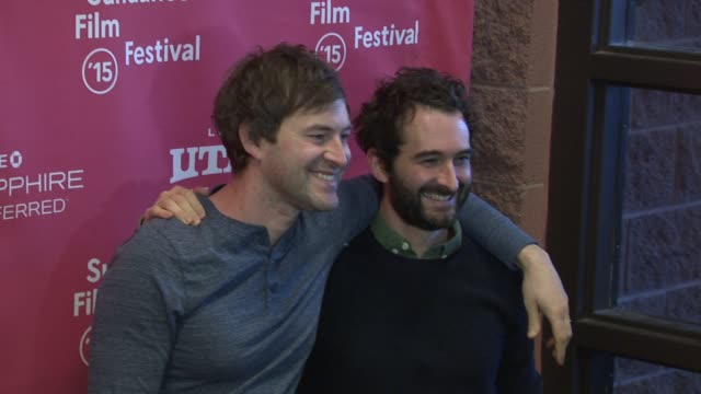 """jay duplass, mark duplass at """"the overnight"""" world premiere - 2015 sundance film festival at eccles center theatre on january 23, 2015 in park city,... - park city stock videos & royalty-free footage"""