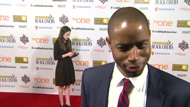 jay ellis on the game at bfca celebration of black cinema west hollywood, ca january 7, 2014 - ブロードキャスト映画批評家協会点の映像素材/bロール