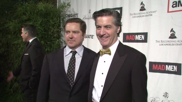 jay faires david carbonara at the lionsgate presents the live revue a night on the town with 'mad men' at los angeles ca - revue stock videos and b-roll footage