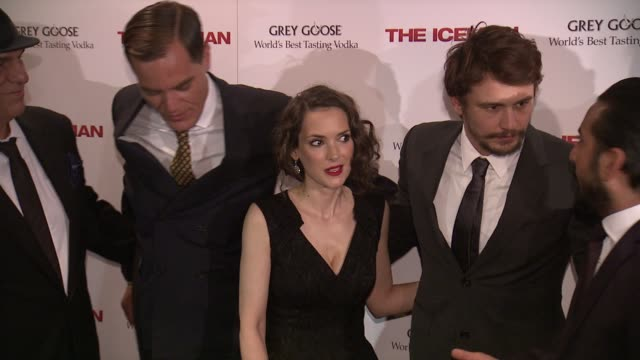 jay giannone robert davi michael shannon winona ryder james franco danny abeckaser ray liotta at the iceman new york screening at chelsea clearview... - robert davi stock videos and b-roll footage