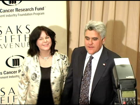 jay leno and mavis leno at the 2005 courage award given to lance armstrong at saks fifth avenue's unforgettable evening at the regent beverly... - tv司会 ジェイ・レノ点の映像素材/bロール