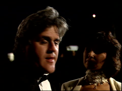jay leno at the 1995 academy awards morton party at morton's in west hollywood, california on march 27, 1995. - 67th annual academy awards stock videos & royalty-free footage